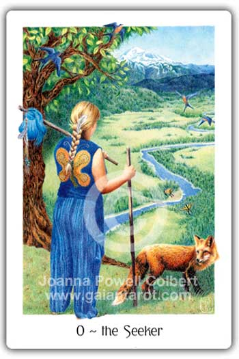 Seeker or Fool card Gaian Tarot deck