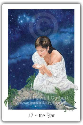 Star card Gaian Tarot deck
