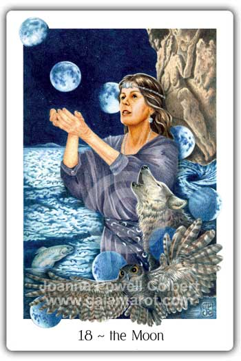 Moon card Gaian Tarot deck