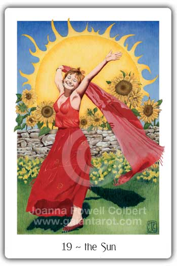 Sun card Gaian Tarot