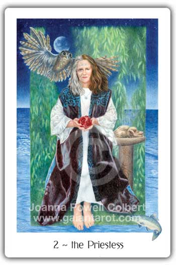 Gaian Tarot Priestess or High Priestess card