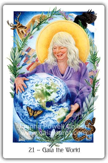 Gaia or the World card Gaian Tarot