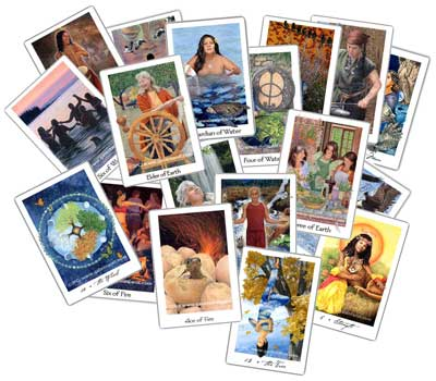 cards from the Gaian Tarot